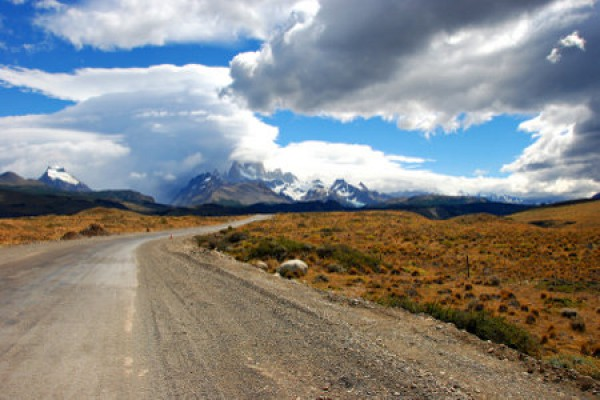 Strasse zum Fitz Roy Mountain