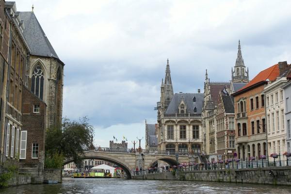 Graslei in Gent, Belgien