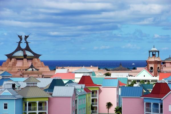 Resort Gebäude auf Paradise Island