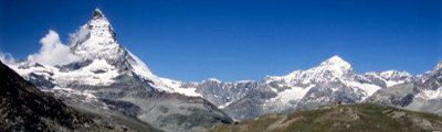 Alpenländer - Matterhorn und Riffelsee, nähe Zermatt