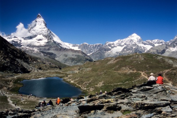 Matterhorn und Riffelsee, nähe Zermatt