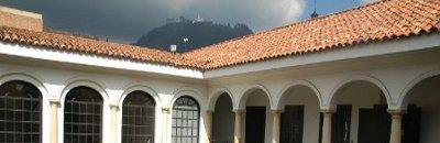 Kolumbien - Im Kolonialstil gebauten Innenhof, Bogota