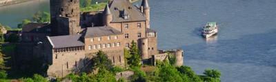 Süddeutschland - Burg Katz und Rhein, Rheinland-Pfalz