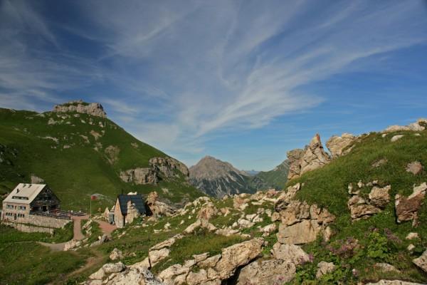 Pfälzerhütte (2108 m) auf dem Bettlerjoch, Naafkopf