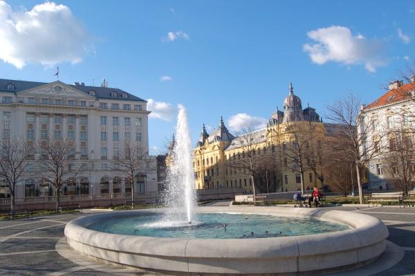 Springbrunnen in Zagreb