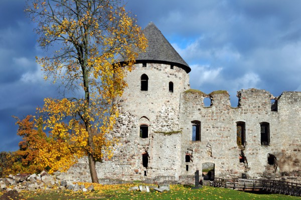 Ruine der Ordensburg, Cesis