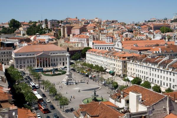 Rossio Platz, Lissabon