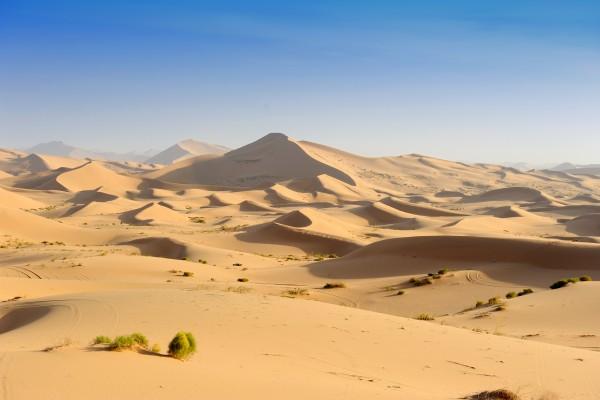Sanddünen in der Wüste Sahara, Algerien