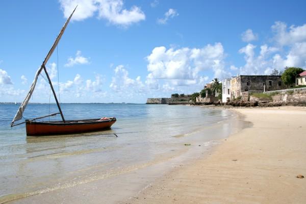 Dhau Boot in Ilha, Mosambik