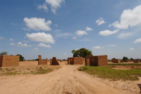 Afrikanisches Dorf in Burkina Faso