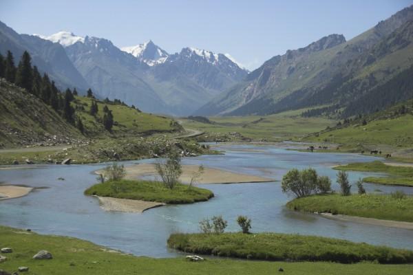 Tian Shan Gebirgslandschaft, Kirgisistan