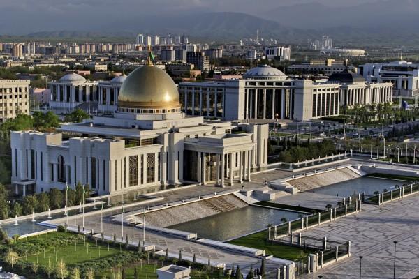 Präsidenten Palast in Ashkabad, Turkmenistan