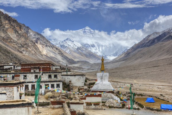 Kloster Rongbuk, Mount Everest, Shigatse, Tibet