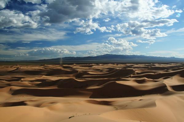 Sanddünen in der Gobi-Wüste, Mongolei