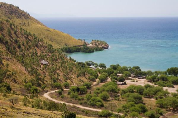Dorf am Prestine Beach, Osttimor