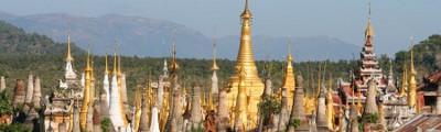 Kontinent Asien - Alter Buddha Tempel, Myanmar