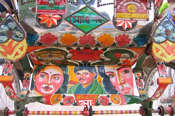 Rückteil einer Rickshaw in Dhaka, Bangladesch
