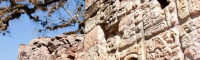 Lateinamerika - Felszeichnungen, Maya Tempel in Copan, Honduras
