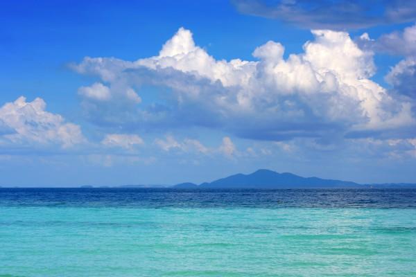 Ozean bei den Polynesischen Inseln