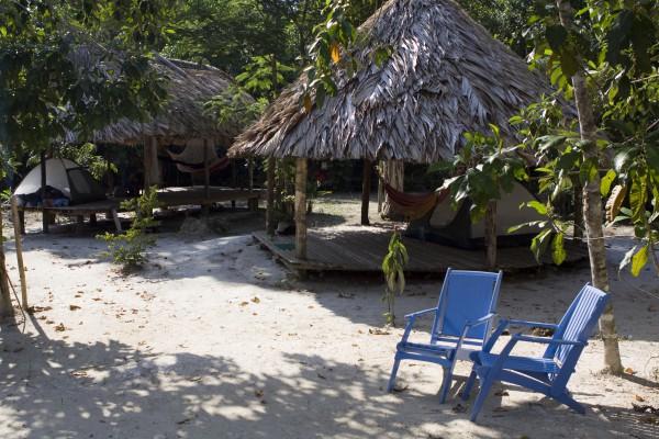 Hütten im Jungle bei Paramariba, Suriname