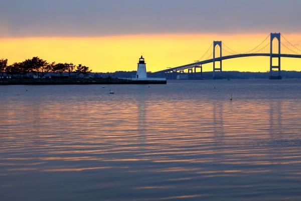 Claiborne Pell Bridge bei Newport, Rhode Island