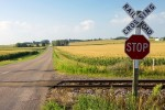 Railroad Crossing in Wisconsin